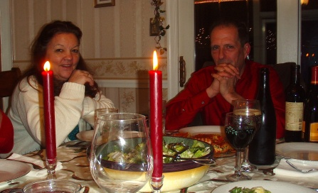 Christmas dinner with Mom and Dad