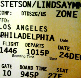 My ticket home :)