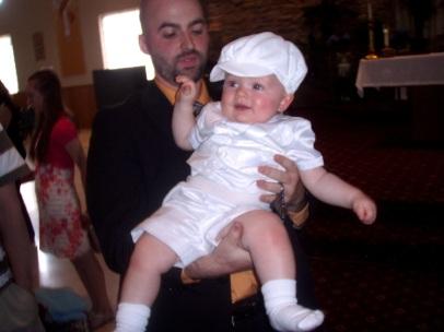 John and Jack at his christening