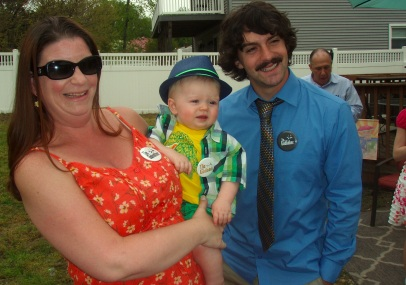 Jack and his godparents, Aunt Karen and Uncle Mike
