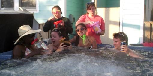 Hot tub shenanigans