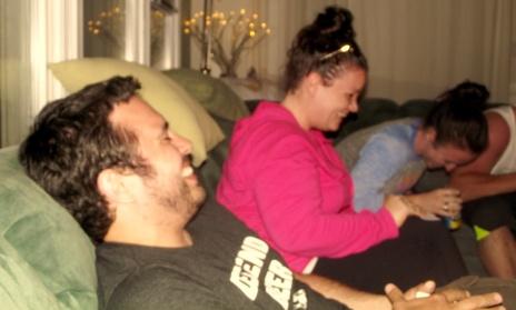 Steve, Kelly, and Meg cracking up
