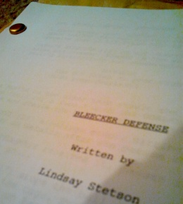 A completed script